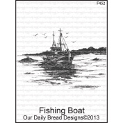Our Daily Bread Cling Rubber Stamp 10cm x 15cm -Fishing Boat