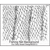 Our Daily Bread Cling Rubber Stamp 13cm x 17cm -Fishing Net Background