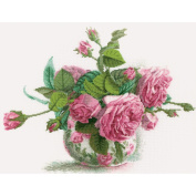 Romantic Roses Counted Cross Stitch Kit-38cm x 30cm 16 Count