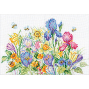 Garden Flowers Counted Cross Stitch Kit-33cm - 1.9cm x 25cm 16 Count