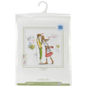 Couple In The City Counted Cross Stitch Kit-20cm x 20cm 14 Count