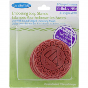 Soap Embossing Stamp Assortment 8/Pkg-Round-Birthday