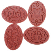 Soap Embossing Stamp Assortment 8/Pkg-Oval-Baby
