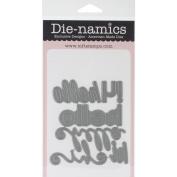 Die-Namics Dies-Happy Hellos, .20cm To 8.4cm