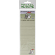 Magnetic Memo Pad 7cm x 21cm -Never Mind The Weather