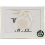 Hand Made Sheep Cards -White Knitting