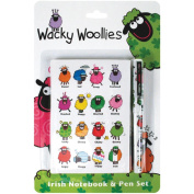 Wacky Woollies Notebook And Pen-7.6cm - 0.3cm x 14cm