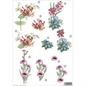 3D Die-Cut Decoupage Sheet 21cm x 30cm -Floral
