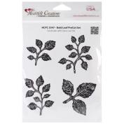 Heartfelt Creations Cling Rubber Stamp Set 13cm x 17cm -Bold Leaf