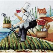 Fine Wine Counted Cross Stitch Kit-36cm x 36cm 14 Count