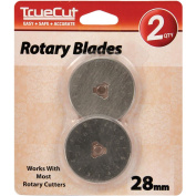 TrueCut Rotary Cutter Replacement Blades-28mm 2/Pkg