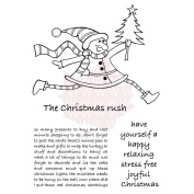 Woodware Clear Stamps 15cm x 10cm Sheet-The Christmas Rush