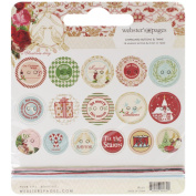 A Christmas Story Self-Adhesive Chipboard Buttons 16/Pkg-With 6 Feet Of Twine
