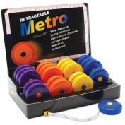 Retractable Metro Tape Measure 20 Piece Display-150cm