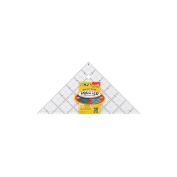 "Olfa Frosted Advantage Non-Slip Ruler ""The Pyramid""-15cm - 1.3cm Right Angle"