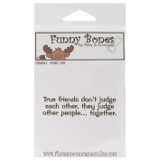 Riley & Company Funny Bones Cling Mounted Stamp 5.1cm x 3.2cm -True Friends