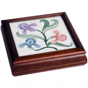 Mahogany Carols Fancywork Box 23cm - 1.3cm x 24cm X2-1.9cm -Design Area 18cm - 1.3cm x 19cm