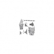 Dyan Reaveley's Dylusions Cling Stamp Collections 22cm x 18cm -This Old House