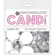 Candi Dot Colour Pop Embellishments .1040ml-Silver Gilt