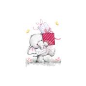 Wild Rose Studio Ltd. Clear Stamp 8.9cm x 7.6cm Sheet-Bella W/Presents