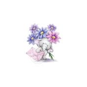 Wild Rose Studio Ltd. Clear Stamp 8.9cm x 7.6cm Sheet-Bella W/Flowers