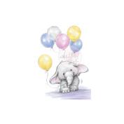 Wild Rose Studio Ltd. Clear Stamp 8.9cm x 7.6cm Sheet-Bella W/Balloons