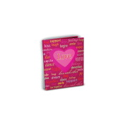Mini Photo Album 10cm x 15cm Holds 24 Photos-Love
