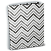Mini Photo Album 10cm x 15cm Holds 24 Photos-Chevron Black & White