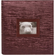 22cm x 28cm 3 Ring Photo & Scrapbook Album-Bordeaux