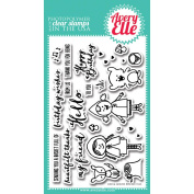 Avery Elle Clear Stamp Set 10cm x 15cm -Red & Goldie