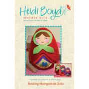 Heidi Boyd Nesting Dolls Softie Whimsy Kit-Lg 15cm x 11cm Md 14cm x 9.5cm Sm 11cm x 8.3cm