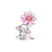 Wild Rose Studio Ltd. Clear Stamp 8.9cm x 7.6cm Sheet-Bella W/Daisy