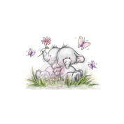 Wild Rose Studio Ltd. Clear Stamp 8.9cm x 7.6cm Sheet-Bella W/Friend