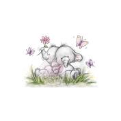 Wild Rose Studio Ltd. Clear Stamp 8.9cm x 7.6cm Sheet-Bella W/Friend