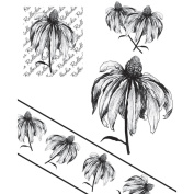 Chapel Road Cling Mounted Rubber Stamp Set 15cm x 17cm -Angle Rudbeckia