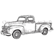Class Act Cling Mounted Rubber Stamp 8.3cm x 14cm -Old Truck