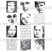 Chapel Road Cling Mounted Rubber Stamp Set 15cm x 17cm -I Am Woman Montage