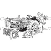 Class Act Cling Mounted Rubber Stamp 7.6cm x 14cm -Tractor