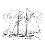 Class Act Cling Mounted Rubber Stamp 7cm x 9.5cm -Small Ship