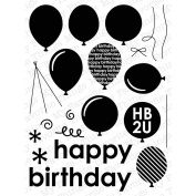 My Favourite Things Die-Namics Companion Stamps 15cm x 20cm Sheet-Party Balloons