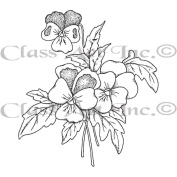 Class Act Cling Mounted Rubber Stamp 8.3cm x 14cm -Viola