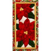 Poinsettias Quilt Magic Kit-23cm - 1.3cm x 48cm