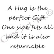 Class Act Cling Mounted Rubber Stamp 7cm x 9.5cm -A Hug Is