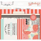 Something Wonderful Cardstock File Folders & Cards-W/Labels