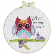 My 1st Stitch Whoo Loves You Mini Counted Cross Stitch Kit, 15cm Round, 14-Count