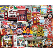 White Mountain Puzzles Fill Her Up, Old Service Stations - 1000 Pc Jigsaw Puzzle