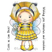 La-La Land Cling Mount Rubber Stamps 10cm x 7.6cm -Bumble Bee Marci