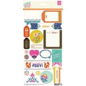 Grand Bazaar Cardstock Stickers 15cm x 30cm -Title