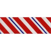 Single Face Satin Diagonal Stripes 5.1cm X30 Yards-Red/White/Blue