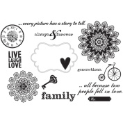 Simple Stories Unmounted Rubber Stamp Kit-Generations